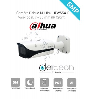 CAMÉRA DAHUA tube 5MP Vari-focal 7 - 35mm DH-IPC-HFW5541E-Z5E