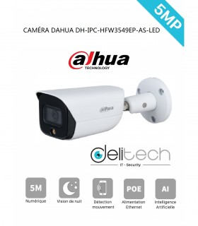 CAMÉRA DAHUA tube 5MP DH-IPC-HFW3549EP