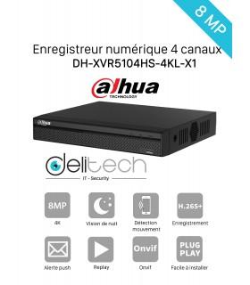 DVR / NVR DAHUA  Enregistreur 4 voies 4K DH-XVR5104HS-4KL-X