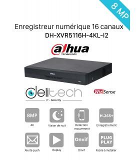 DVR / NVR DAHUA  Enregistreur 16 voies 4K DH-XVR5116H-4KL-I2