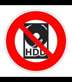 Pas de disque dur