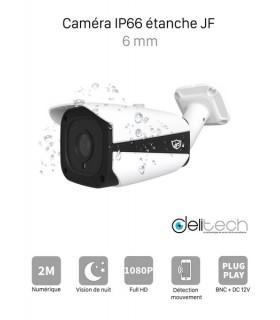 CAMÉRA VIDÉOSURVEILLANCE 1080P 2MÉGAPIXELS TUBE EXTERIEUR de Sécurité 4 en 1 XVI/AHD/CVI/TVI 6mm JF Tech XVI-ED2320-IR2B
