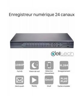 ADVR Delitech Advr7024E Enregistreur numérique 24 voies FullHD 3 en 1 DVR & NVR