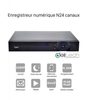 NVR N7924F Enregistreur numérique 24 voies IP FullHD