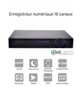 ADVR Delitech A8616Nh Enregistreur numérique 16 voies FullHD 5 en 1 AHD/TVI/CVI/XVI/IP DVR & NVR