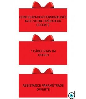 Pré-configuration offerte + câble réseau offert + Manuel français inclus + Assistance paramétrage 6j/7j offerte!!!
