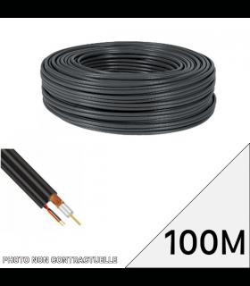 Bobine BNC noir de 100M