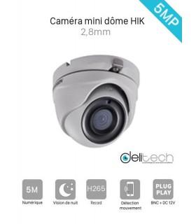 CAMÉRA HIK VISION 5MP DS-2CE56H0T-ITMF MINI DOME 2,8mm