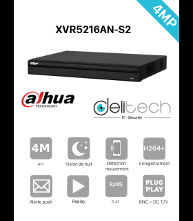 DVR & NVR Dahua enregistreur 16 voies 4M / 5MP XVR5216AN-S2