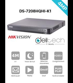 DVR / NVR HIK Vision enregistreur 8 voies 4MP DS-7208HQHI-K1