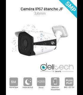 CAMÉRA JF Tech TUBE 5MP 3.6mm 4 en 1 XVI/AHD/CVI/TVI (XVI-ED2351-IR2)
