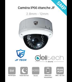 CAMÉRA JF Tech DÔME 5MP Varifocale 2.8-12mm 4 en 1 XVI/AHD/CVI/TVI (AHC-BA2350-IR3-VF)