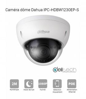 CAMÉRA DAHUA IPC-HDBW1230EP-S IP POE 2,8mm