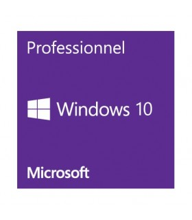 Microsoft Windows 10 Professionnel 64 bits - 1 PC OEM (DVD)