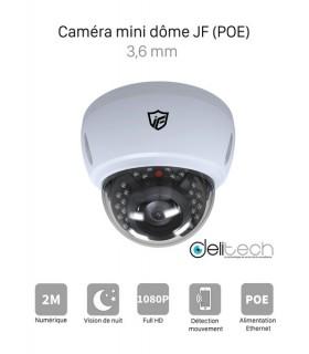 JF TECH IPC-BM8520PX-IR2-P  CAMÉRA VIDÉOSURVEILLANCE 1080P 2MÉGAPIXELS MINI DOME de Sécurité IP 3,6mm black light